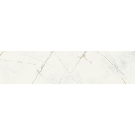Faïence carreau métro aspect marbre OBAN BLANC 7,5x30 - 0,63 m²