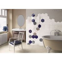 Carrelage hexagonal 17.5x20 Tomette design HEXATILE BLANC Brillant 20519 0.71m²