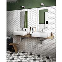 Carrelage hexagonal 17.5x20 Tomette design HEXATILE - BLANC CASSE MAT 20339 0.71m²