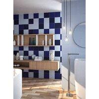 Faience murale 10x10 cm unie brillante BASIC BLEUE MARINE - 0.5m²