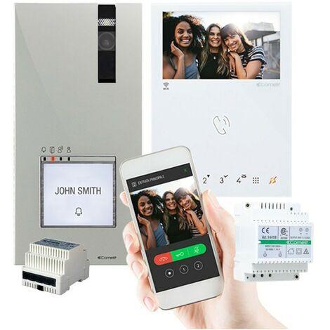 Kit vidéophone Comelit Wi-Fi mini et quadra Eternet 8561V