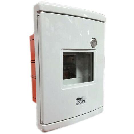 Coffret pour urgence Gewiss à encastrer, 4-modules, gris GW42232