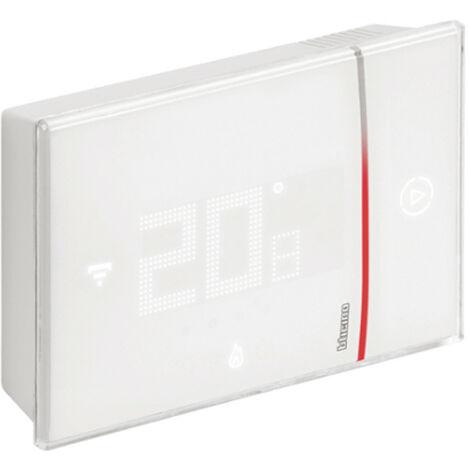 Thermostat Connecté Bticino WIFI SMARTHER 2 au mur Blanc 230V XW8002W