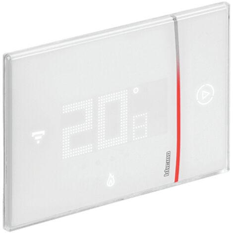 Thermostat Connecté Bticino WIFI SMARTHER 2 encastré Blanc 230V XW8002