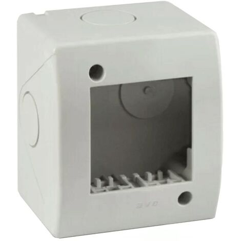Idrobox Container Ave 2 modules pour tuyau RAL7035 IP40 44Q02