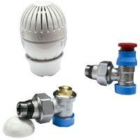 Kit de valve et lockshield Giacomini radiateur 1/2x16 angles R470AX003