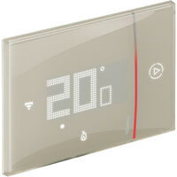 Thermostat Connecté Bticino WIFI SMARTHER 2 encastré Sable 230V XM8002