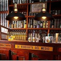3pcs Rétor Lustre Suspension E27 27cm Luminaire Style Industrielle pour Salon Couloir Cuisine