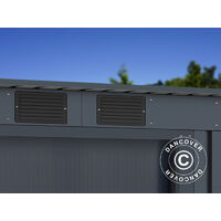 Garden Shed w/Flat Roof 2.01x1.21x1.76 m ProShed®, Anthracite