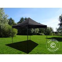 Pop up gazebo FleXtents Pop up canopy Folding tent Basic v.2, 3x3 m Black