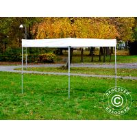Pop up gazebo FleXtents Pop up canopy Folding tent® PRO Exhibition 3x3 m White, Flame Retardant