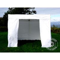 Pop up gazebo FleXtents Pop up canopy Folding tent® Xtreme 50 Exhibition w/sidewalls, 3x3 m, White, Flame Retardant
