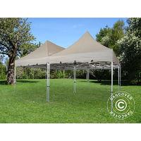 Pop up gazebo FleXtents Pop up canopy Folding tent PRO Peak Pagoda 6x6 m, Latte