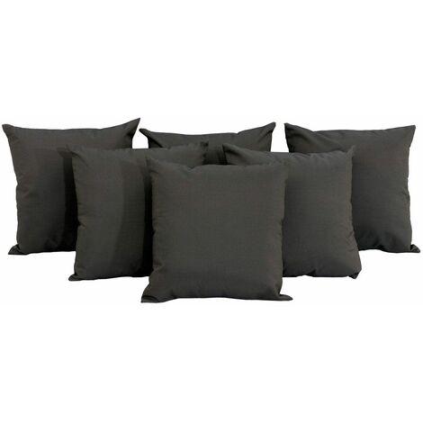 Set De 6 Cojines Para Muebles Lounge Antracita CLP111527945
