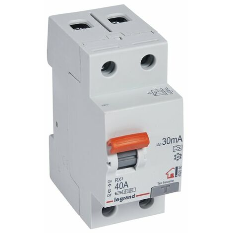 Interruptor Diferencial Superinmunizado Legrand 402060 RX3 para vivienda 2 polos 40 A 30ma