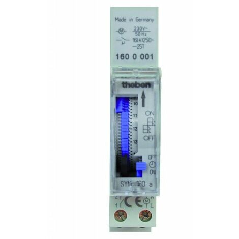 Interruptor horario analogico THEBEN SYN160a carril din 1600087
