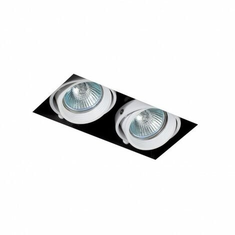 Empotrable doble cuadrado orientable de techo Faro Barcelona Falcon-2 03100501 Blanco sin marco (trimless)