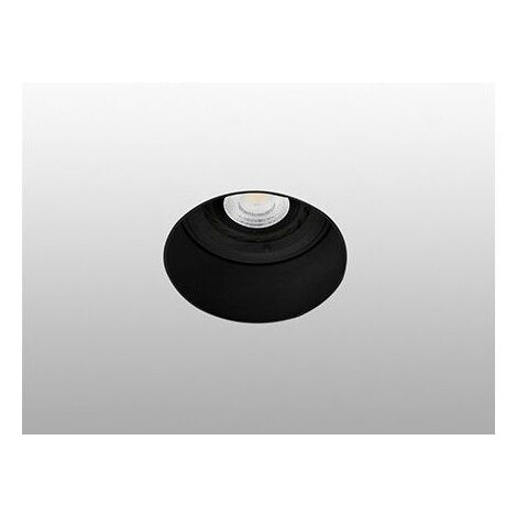 Empotrable redondo de techo Faro Barcelona FRESH 02100702 Negro sin marco (trimless)
