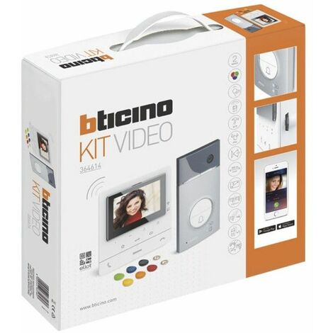 Kit Videoportero superficie 2 hilos Bticino Linea 3000 con monitor CLASSE 100 Conectado 364714