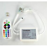 220v Controlador Tira LED RGB 220V, Dimmer por Control Remoto IR 24 Botones tiras 220v
