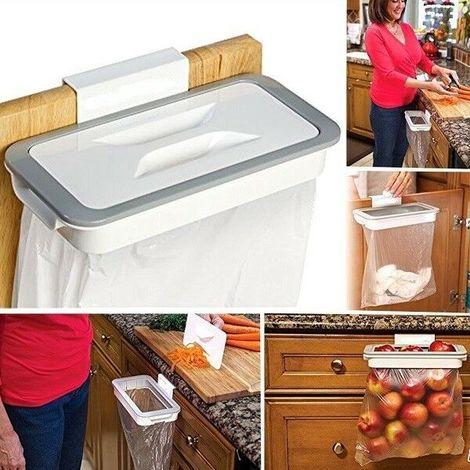 Attach a trash supporto busta spazzatura gancio mobili raccolta rifiuti cucina