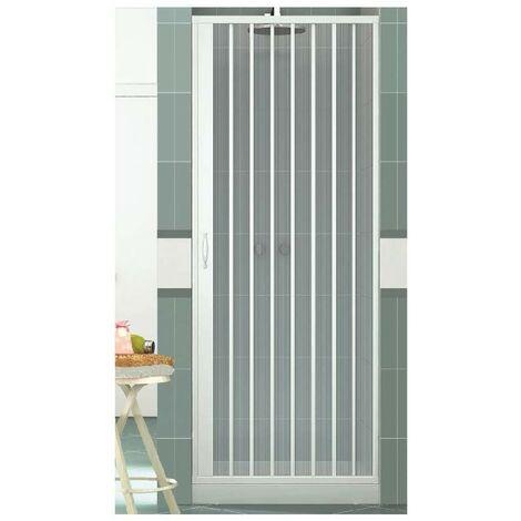 Box doccia Vergine 100 cm in PVC con apertura a soffietto laterale