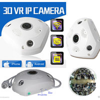 IP CAMERA TELECAMERA RISOLUZIONE 1080P HD 3 ANTENNE P3P ROTAZIONE WIFI WEB AUDIO