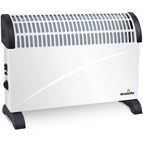 Calefactor Eléctrico Convector Turbo, 2000W, Termostato Regulable
