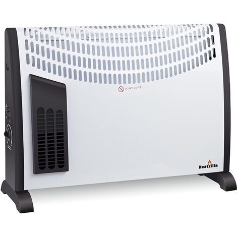 Calefactor Eléctrico Convector Turbo, 2000W, Ajuste de Temperatura