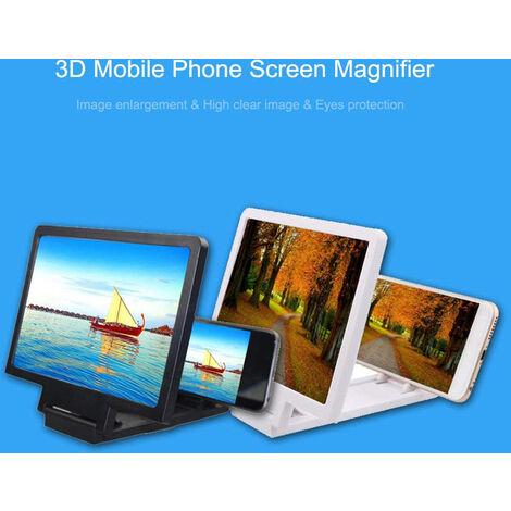 Amplificador de Pantalla para Smartphone, Soporte Universal para Teléfono Móvil, Negro