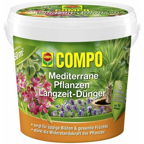 COMPO Mediterrane Pflanzen Langzeit Dünger 1,5 kg für ca. 50 m²
