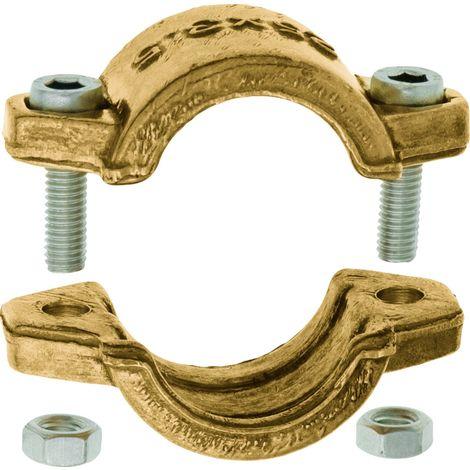 GEKA® Klemmschalen Spannbereich 38 - 41 mm Messing 2-teilig
