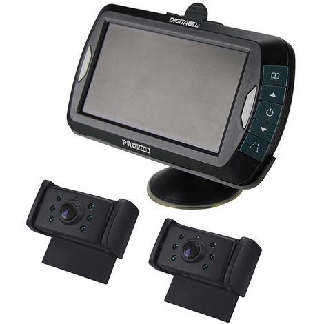 Caméra De Recul Sans Fil Numérique X2 Caméras Écran 4,3 Pouces Pour Caravane Pro User