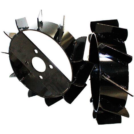 Ruedas Metálicas 60mm (aperos de motoazada) - Bricoferr