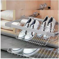 kit porta scarpe metallico regolabile 800 mm acciaio e alluminio griggio metallizzato - emuca.