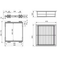 kit cassetto metallico estraibile per modulo 60 cm