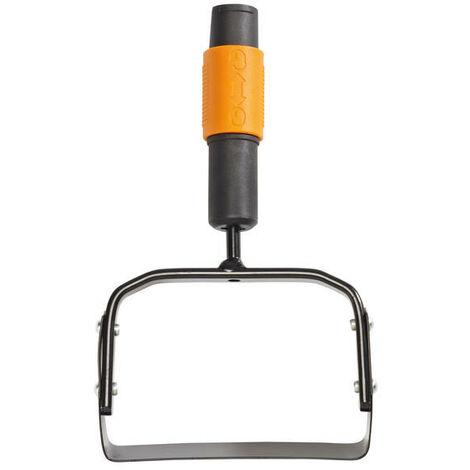 Fiskars Grattoir de jardin, Tête d'outil QuikFit, Longueur: 25 cm, Largeur: 15,5 cm, Lame en acier, Noir/Orange, QuikFit, 1000738