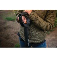 Fiskars Bêche télescopique à bord pointu pour sol dur et caillouteux, Longueur: 105-125 cm, Acier au bore haute qualité, Noir/Argenté, SmartFit, 1001567