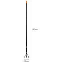 Fiskars Cultivateur, Préparation et entretien du sol, Longueur: 167 cm, Largeur: 12 cm, Noir/Orange, Solid, 1016034