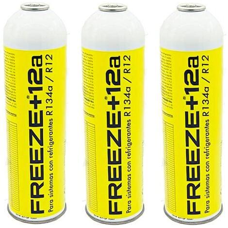 3 Botellas Gas Ecologico Refrigerante Freeze +12a 420Gr Organico Sustituto R12, R134A