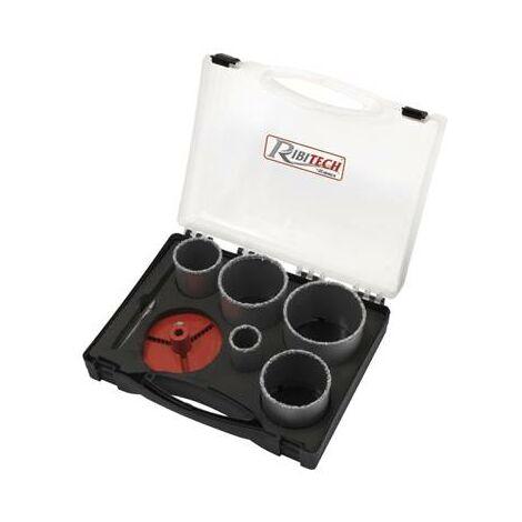 Coffret 5 scie cloche diamantées PRO de 33 à 83 mm (carrleage, ceramique...)