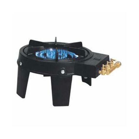 Rechaud à gaz en fonte avec 2 rampes de feux 8600W