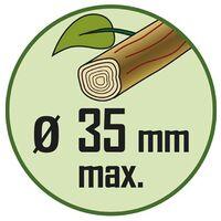Coupe branche à contre lame crantée 66 cm diam de coupe 35 mm