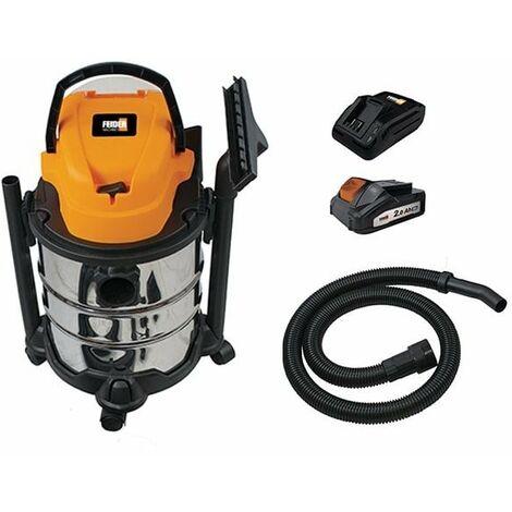 FEIDER Aspirateur eau et poussière sans fil - Cuve Inox 20 L FHAEP20V20