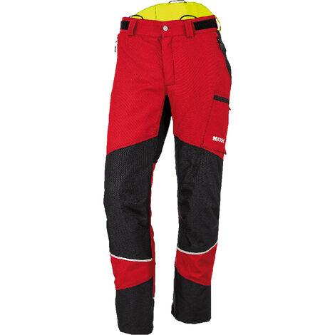 KOX Pantalon de protection anti-coupures Duro 2.0, rouge, taille EU 56/ FR 50 - Rouge