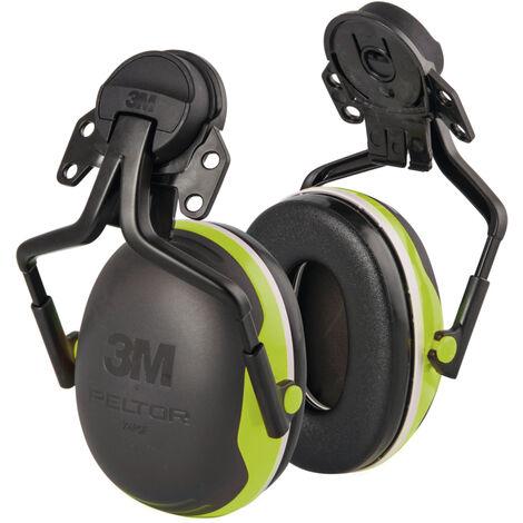3M™ Peltor™ Protection auditive à coquilles X4 à fixer sur le casque, jaune/vert
