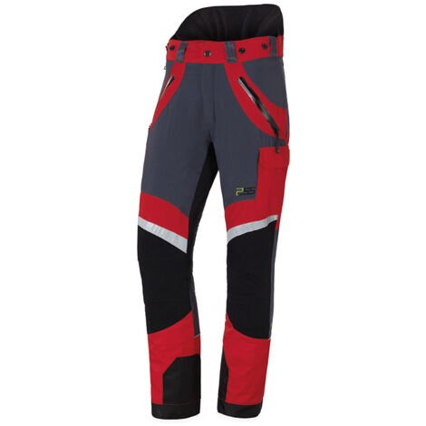 Pantalon anti-coupures X-treme Light, le plus léger, taille EU 52/ FR 46 - Rouge/gris