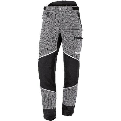 KOX Pantalon de protection anti-coupures Caribou 2.0, 28 taille courte - Noir/gris