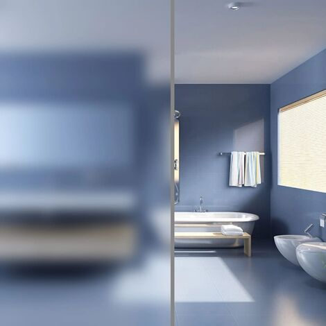 Film autoadhésif d'intimité pour fenêtre Verre laiteux 0,9x5 m - noir