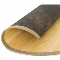 Tapis en bambou rond naturel Ø 200cm - noir